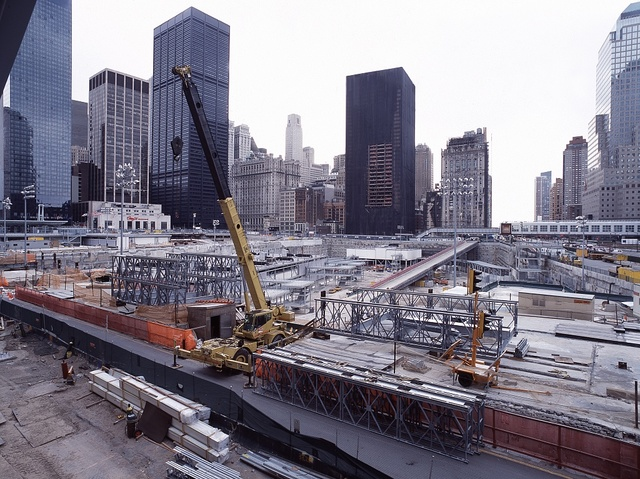 Reconstruction at Ground Zero, site of the attack on the World Trade Center Twin Towers, New York, New York