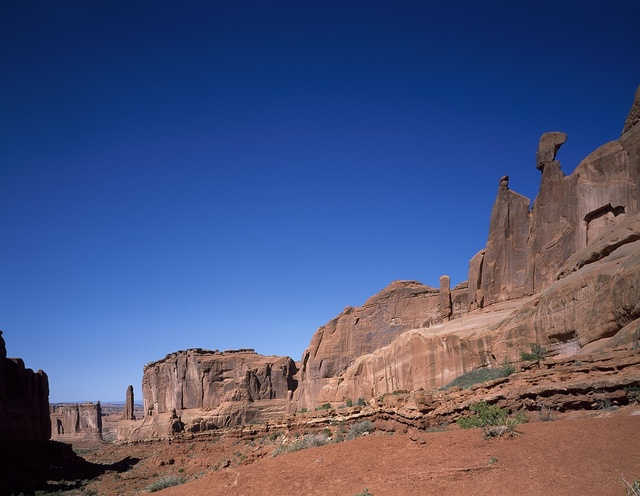 Red-rock formation at Arches National Park, Moab, Utah