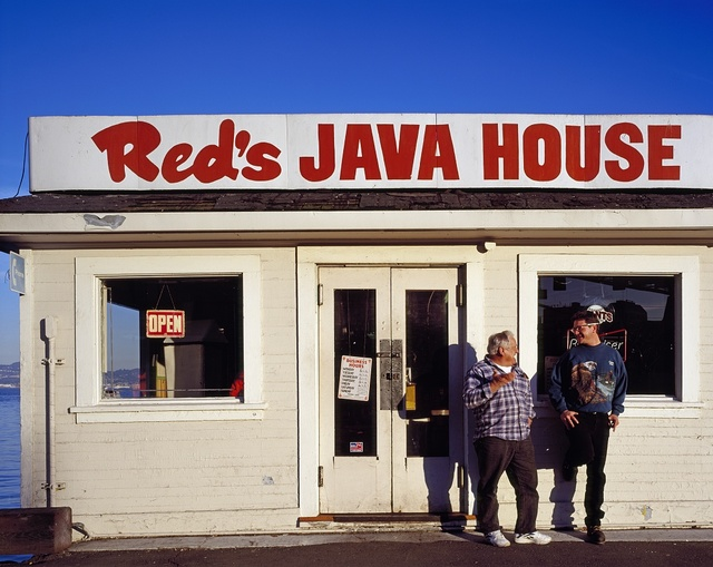Red's Java House is a longstanding breakfast and sandwich joint frequented by longshoremen, San Francisco, California
