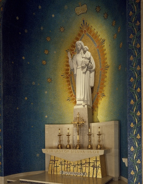 Religious icons of the National Shrine of the Immaculate Conception on the campus of the Catholic University of America, Washington, D.C.