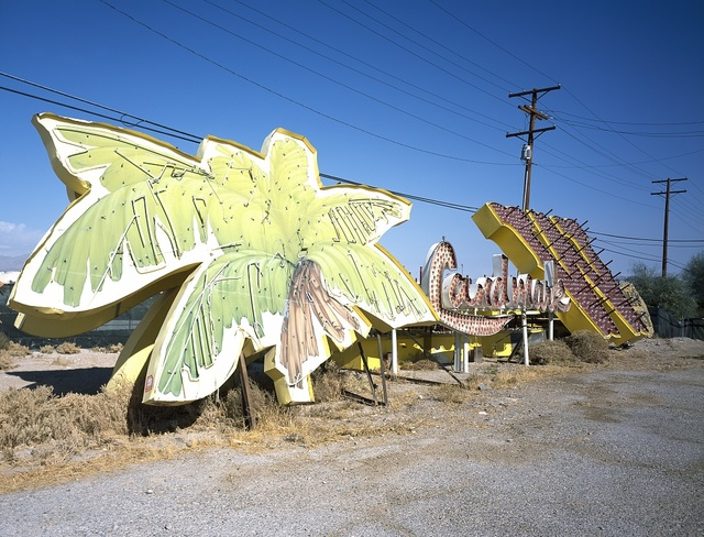 "Remnants of famous signs at the ""Neon Boneyard"" in Las Vegas, Nevada"