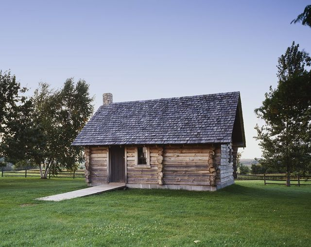 """Replica of """"The Little House in the Big Woods"""" at the Laura Ingalls Wilder House, Pepin, Wisconsin"""
