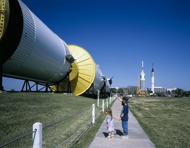 Rocketry at Space Center, Houston, Texas