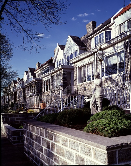 Row house neighborhood in northeast Philadelphia, Pennsylvania