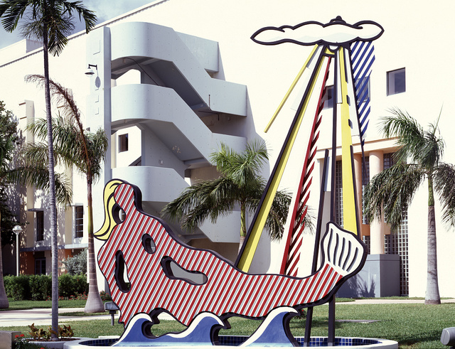 Roy Lichtenstein created this statue outside the Miami Beach Convention Center, Dade County, Florida's largest convention facility