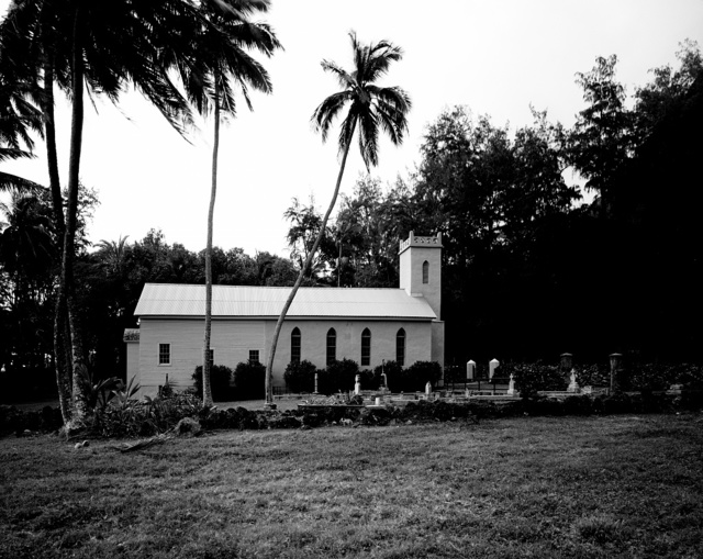 Saint Philomena Church, home church of Brother Damien, a missionary who ministered to lepers on Hawaii's island of Molokai