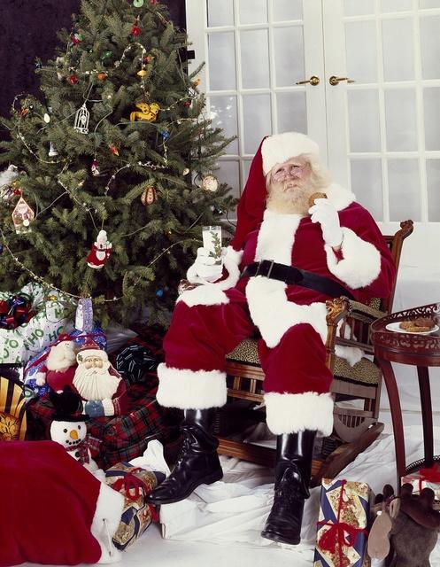 Santa poses in Carol Highsmith's studio in Washington, D.C.