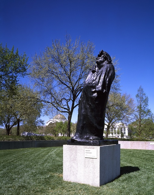 Sculpture of French novelist and playwright Honoré de Balzac by Auguste Rodin on the grounds of the Smithsonian Institution's Hirshhorn modern-art museum, Washington, D.C.