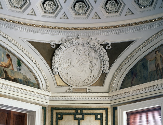 [Second Floor, Northwest Pavilion. Circular relief of Winter by Bela L. Pratt. Library of Congress's Thomas Jefferson Building, Washington, D.C.]