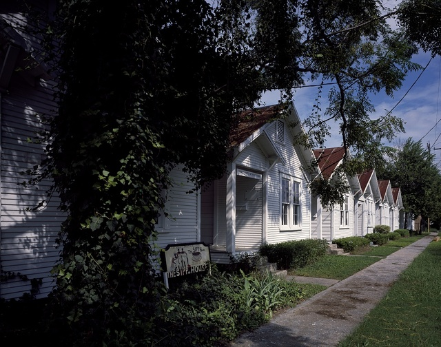 Shotgun houses included in a public-art project called Project Row House, Houston, Texas