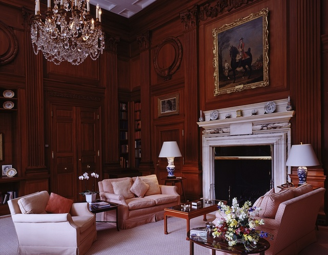 Sitting room in the residence of the Ambassador of England located on Massachusetts Avenue, N.W., in Washington, D.C.