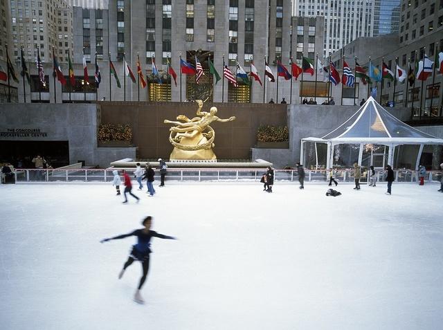 Skating at Rockefeller Plaza, New York, New York