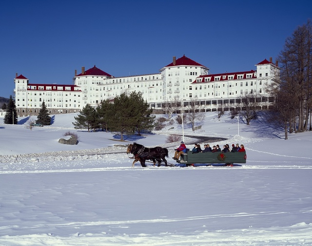 Sleigh ride at the Mount Washington Hotel and Resort, Bretton Woods, New Hampshire