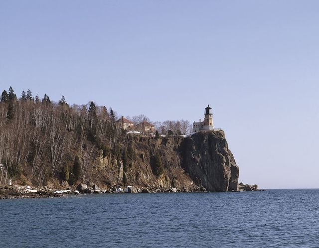 Split Rock Lighthouse, one of Minnesota's best known landmarks, is located in Two Harbors, Minnesota