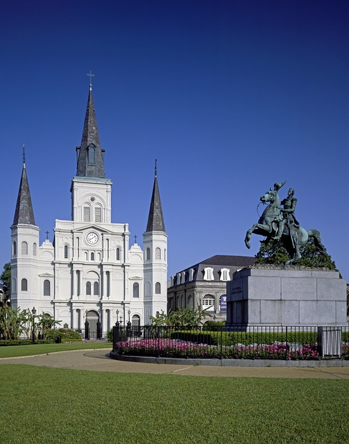 St. Louis Cathedral on Jackson Square, New Orleans, Louisiana