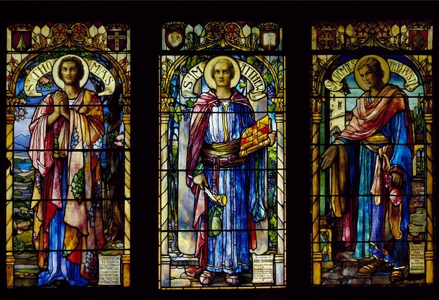 Stain glass in a church in Bretton Woods, New Hampshire