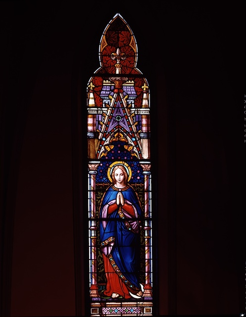 Stained-glass window at St. Dominic Catholic Church in the southwest quadrant of Washington, D.C.