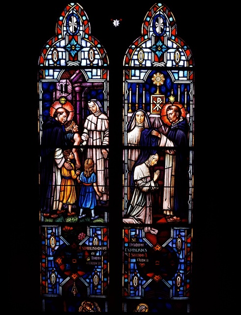Stained-glass window at St. Dominic Church in southwest Washington, D.C.