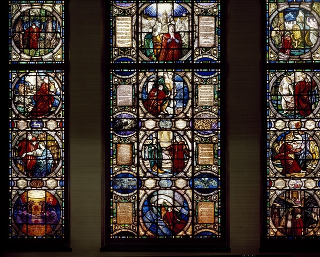 Stained-glass window at the Vatican Embassy, Washington, D.C.