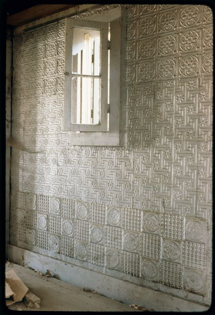 Stamped Tin Wall Covering in Short Addition