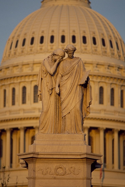 Statue in front of the U.S. Capitol, Washington, D.C.