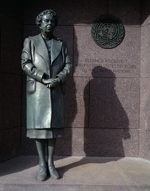 Statue of First Lady Eleanor Roosevelt at the Franklin Delano Roosevelt Memorial, Washington, D.C.