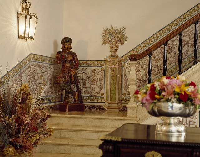 Statue on the staircase of the Chancery and Residence of the Ambassador of Portugal in Washington, D.C.