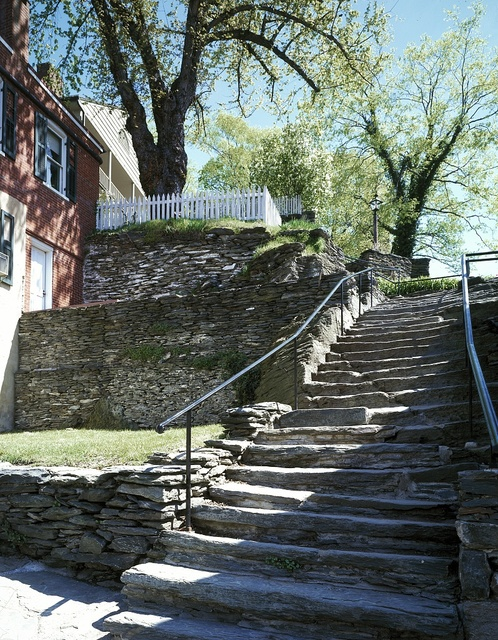 Steps connecting lower and upper town, National Historical Park, Harpers Ferry, West Virginia