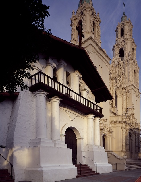The 1791 Mission Dolores, the oldest-standing building in San Francisco, California