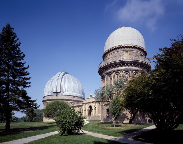 The 1897 Yerkes Observatory is a research institution operated by the University of Chicago's Department of Astonomy and Astrophysics, Williams Bay, Wisconsin