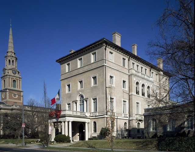 The former home of the Italian embassy based at 2700 16th Street and Fuller Street, Washington, D.C.