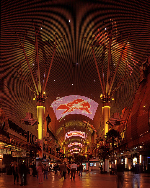 The Fremont Street Experience choreographed, indoor sound and light show in Old Town, Las Vegas, Nevada