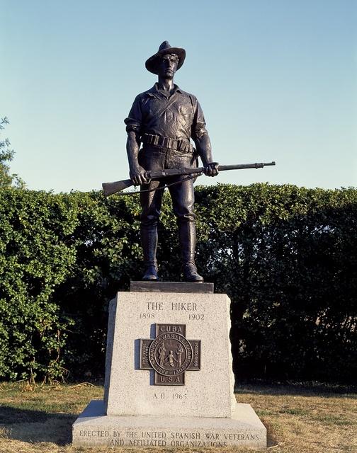 """The Hiker"" statue, Austin, Texas"