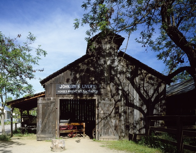 The Johnson Livery Stable is one of many relics at Columbia State Park in the heart of California's Sierra gold country