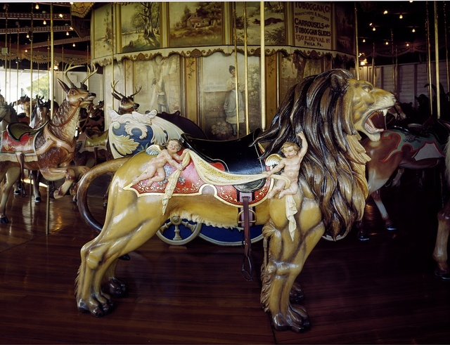 The Kit Carson County Carousel, built in 1905 in Philadelphia and moved to Burlington, Colorado in 1928, was restored in 1976 as a Bicentennial project
