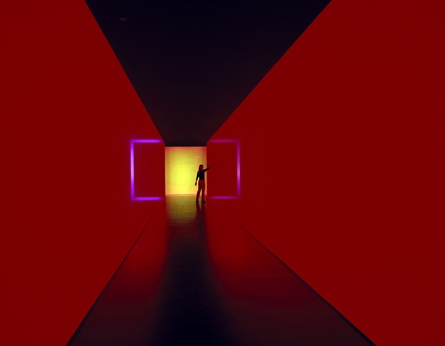 """""""The Light Inside"""" installation, by James Turrell, at the Museum of Fine Arts, Houston, Texas"""