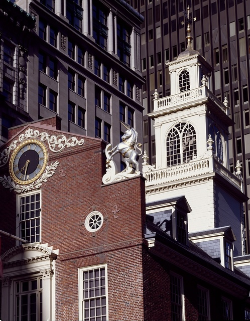 The Old State House was the center of political activity of the Massachusetts Bay Colony. Boston, Massachusetts