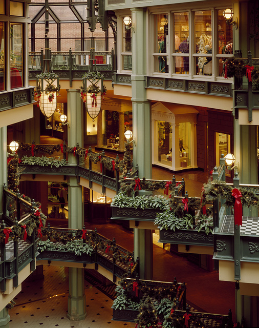 The Shops at Georgetown Park mall at Christmas time, Washington, D.C.