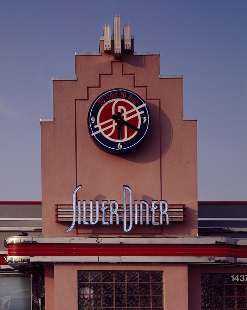 The Silver Diner façade, Silver Spring, Maryland