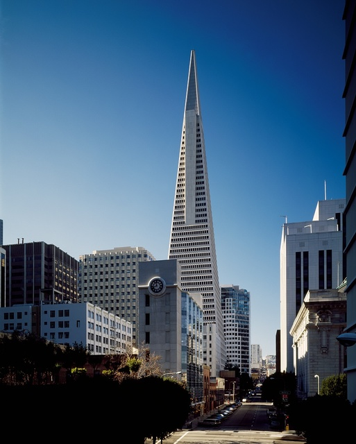 The Transamerica Pyramid is the tallest skyscraper in the San Francisco, California, skyline and one of its most iconic
