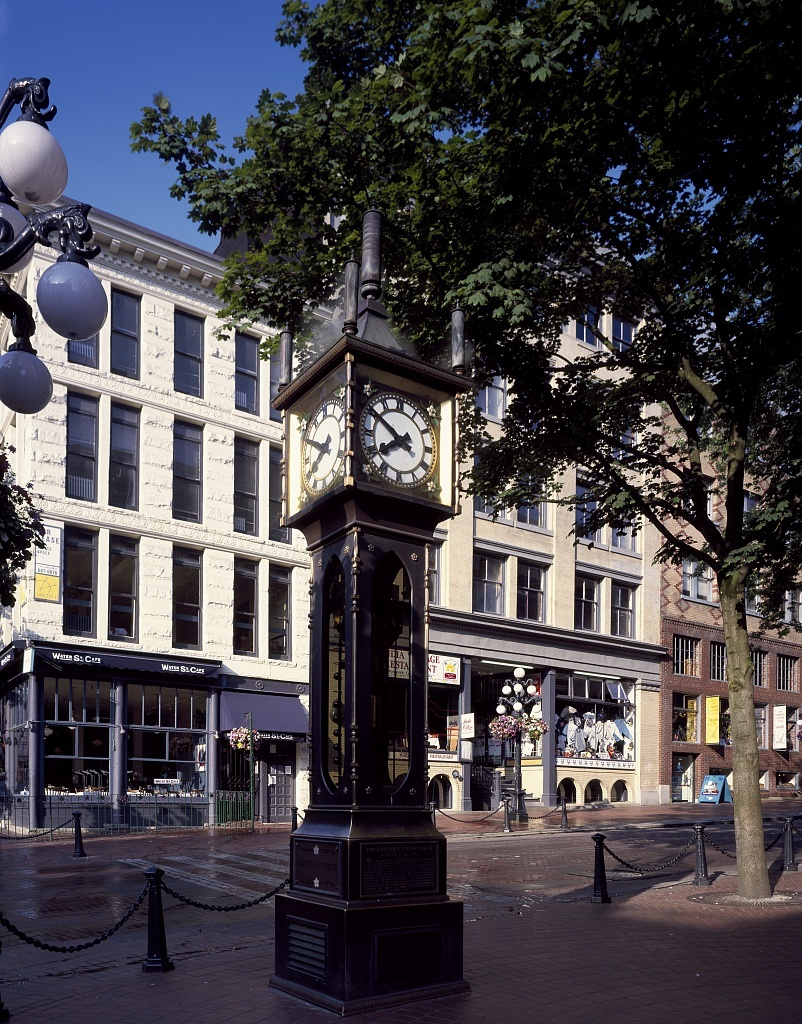 The world's first-known steam-powered clock is a big attraction in Vancouver, British Columbia