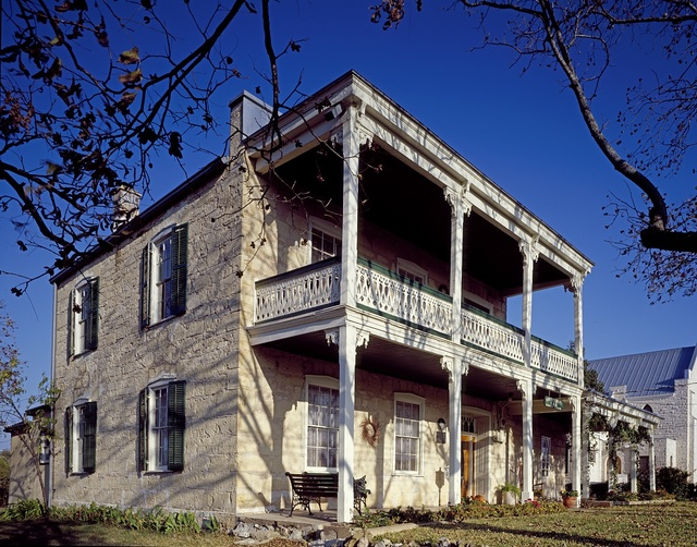 This house was built in 1864 for Belgian native Felis Van Der Stricken in Fredericksburg, Texas