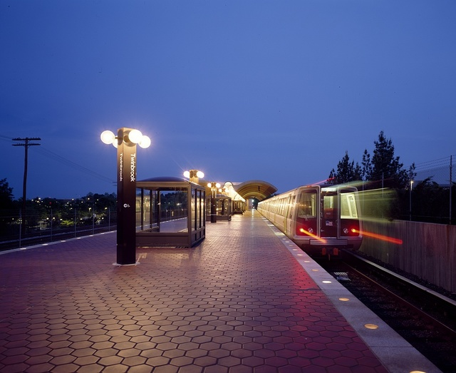 Twinbrook Metro station in Rockville, Maryland