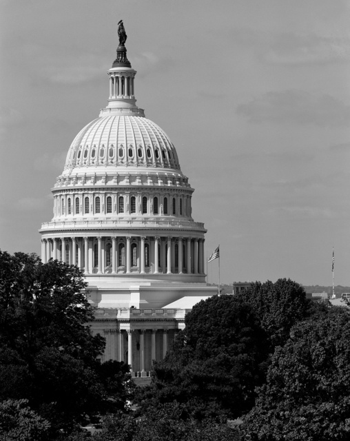 U.S. Capitol, topped by Thomas Crawford's Statue of Freedom, Washington, D.C.
