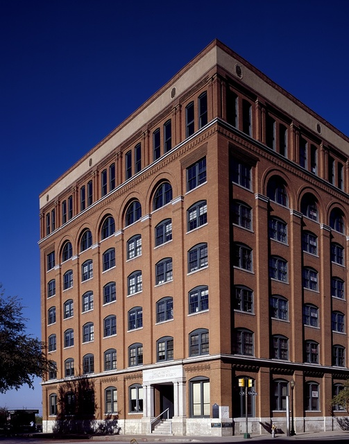 View of the Texas School Book Depository in Dallas, Texas, from which, according to the Warren Commission, Lee Harvey Oswald killed President John F. Kennedy in 1961