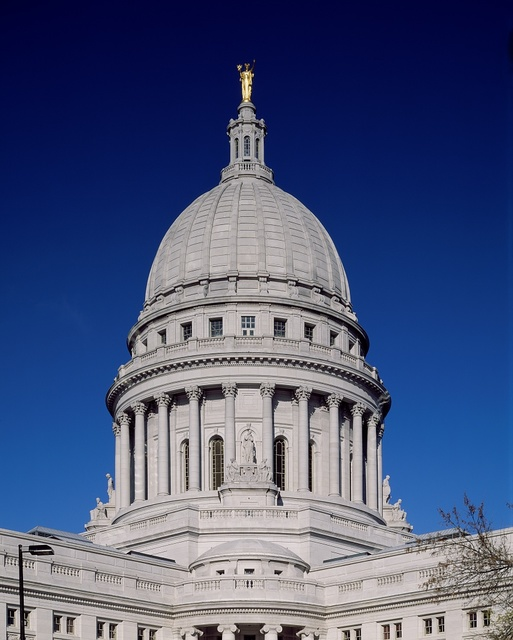 [Wisconsin State Capitol in Madison, Wisconsin]