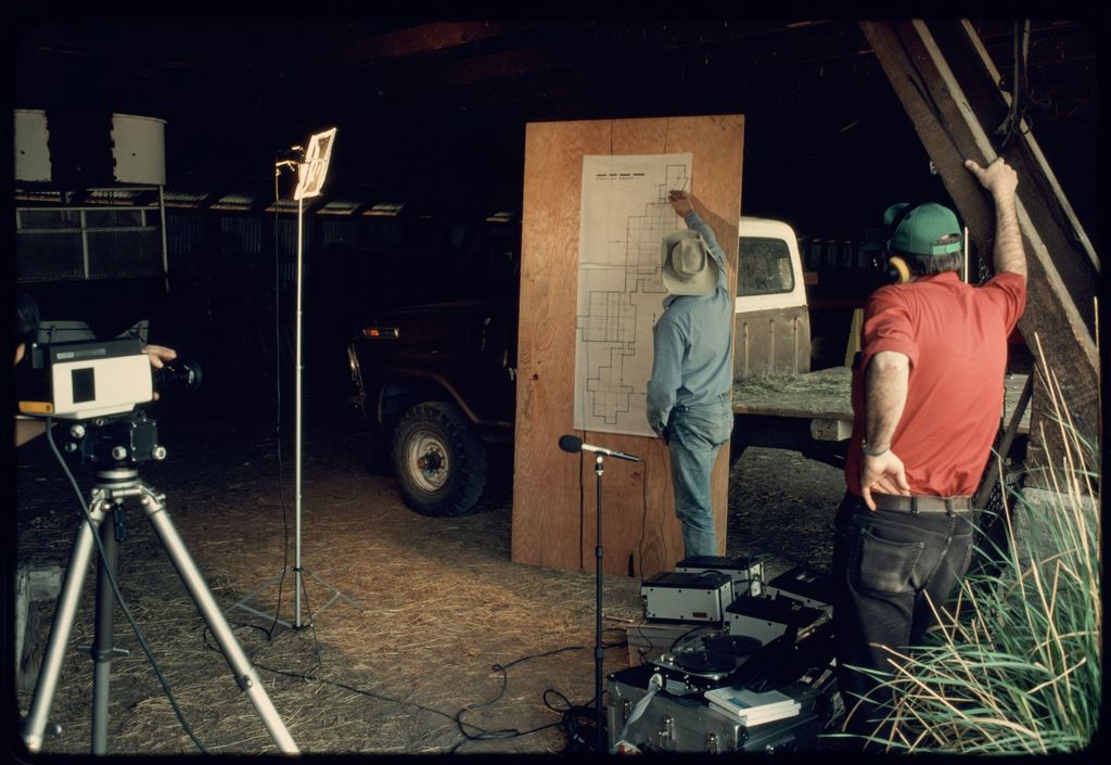 Videtotaping Interview in Machine Shed