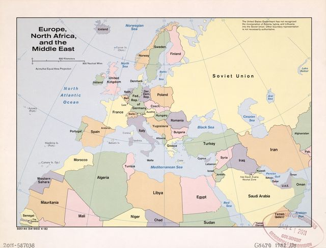 Europe, North Africa, and the Middle East.