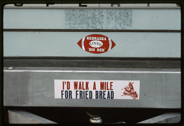 Bumper Sticker on Crafts Van in Midway