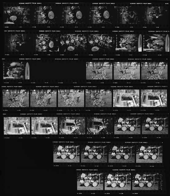 Honey Creek Apartments: [ Contact Sheet Of Photographs Of Danny Kaye Meeting